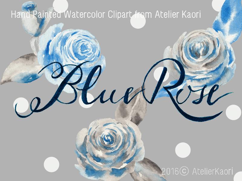 bluerose clipart