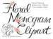 rose monogram clipart
