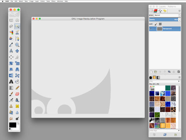 gimp interface on mac