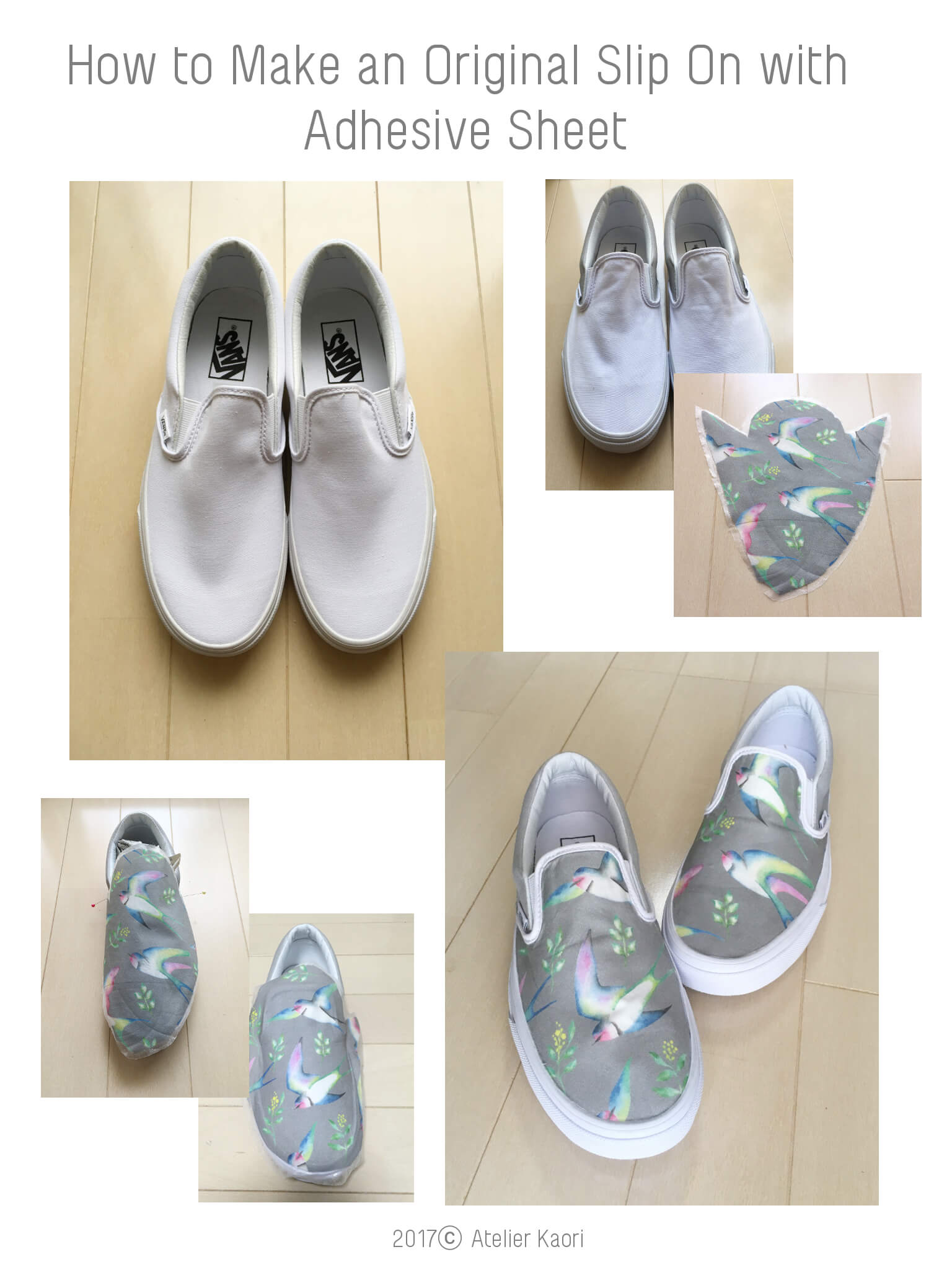 DIY Colorful SlipOn with Adhesive Sheets