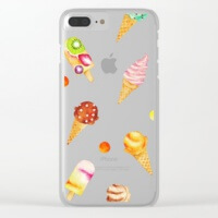 Ice cream i phone clear case