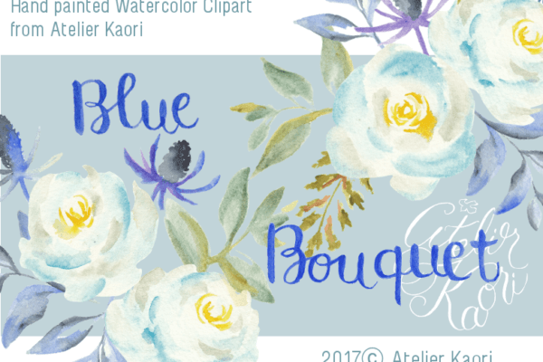 blue bouquet clipart