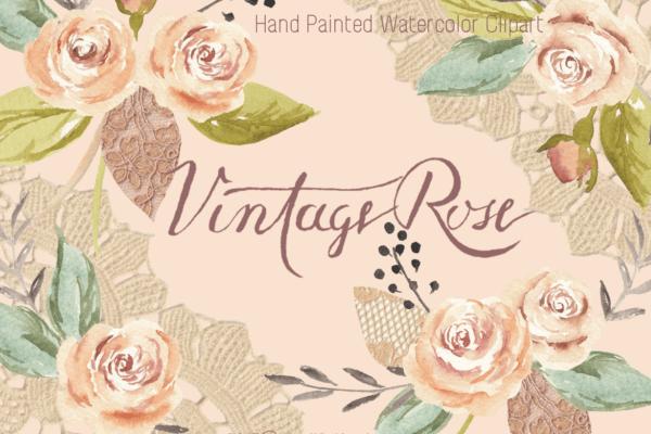 vintage rose clipart